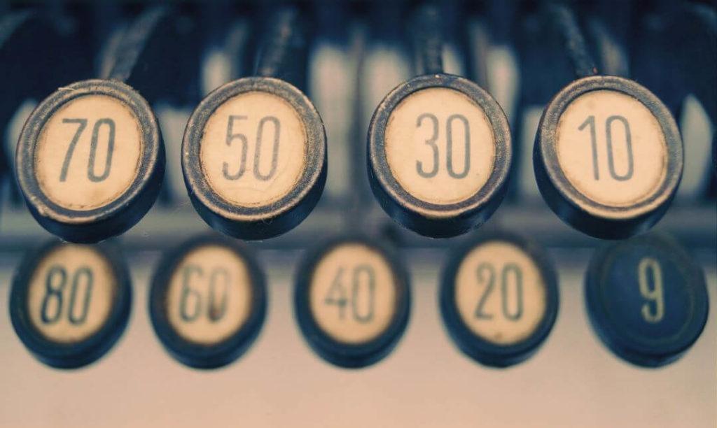 psaní číslovek